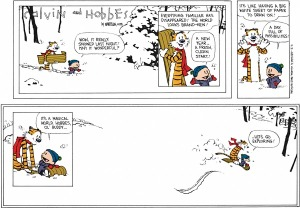 """Dernière publication de """"Calvin & Hobbes"""", 31 décembre 1995"""